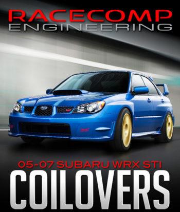 RACECOMP ENGINEERING TARMAC 2 COILOVERS: 2005-2007 SUBARU WRX STI